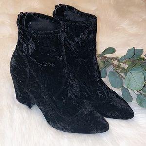 Nine West Velvet Pointed Toes Booties